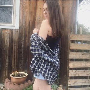 Vintage plaid oversized slouchy boyfriend flannel
